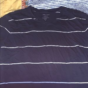 Banana Republic Striped V Neck